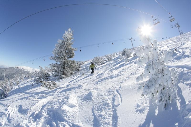 Банско ски писти зимата